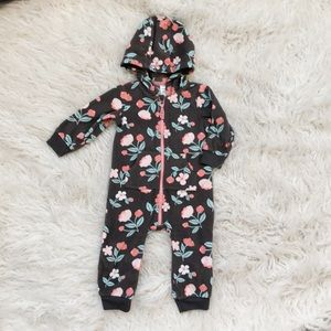 Carter's Floral Pajamas Zipper